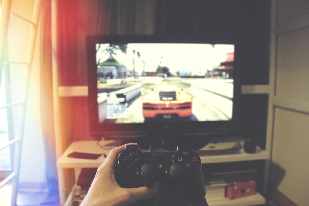 ゲーム中 テレビ画面